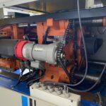 used 75 ton cincinnati milacron model act 75d-125 electric injection molding machine