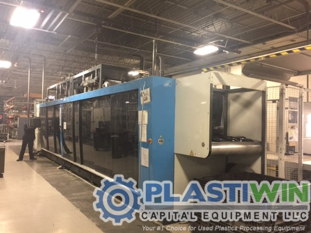 Used Kiefel KMD 85B Inline Form/Trim/Stack/Pick and Place