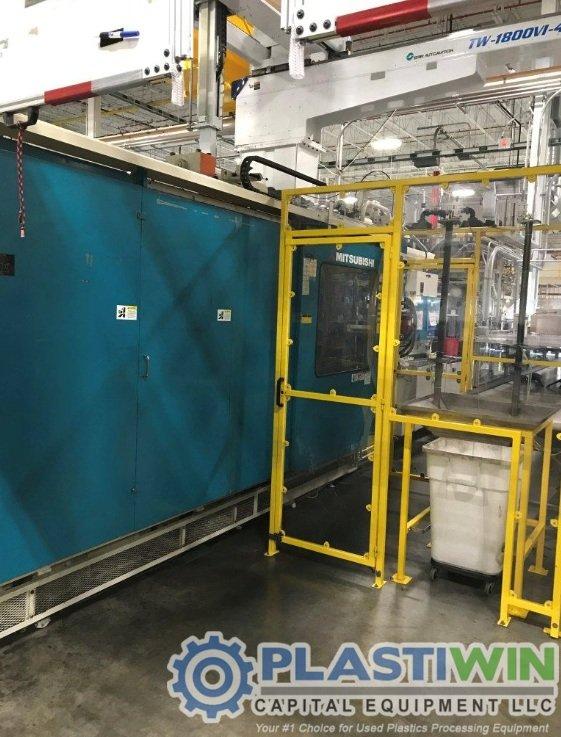 Used 1200 Ton Mitsubishi 1200MMJ-160 Injection Molding Machine | 2001 3 Used 1200 Ton Mitsubishi 1200MMJ-160 Injection Molding Machine