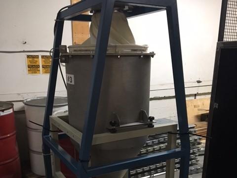 used arbo model vv2200 vibratory feeder