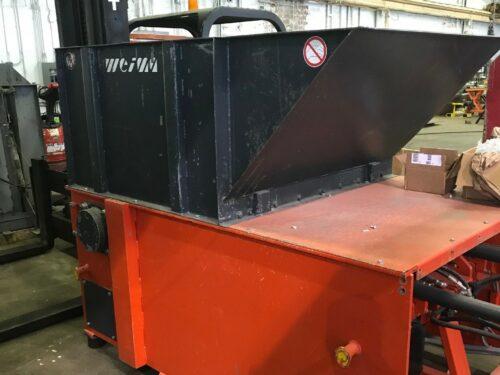 used 75 hp weima wl 13 single shaft shredder