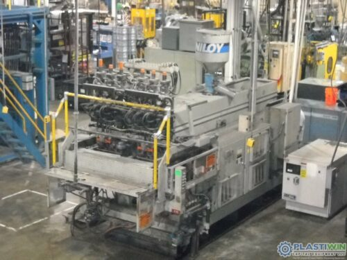 Used Uniloy Model 350 R3 (6) Head Continuous Extrusion Blow Molding Machine 1 Used Uniloy Model 350