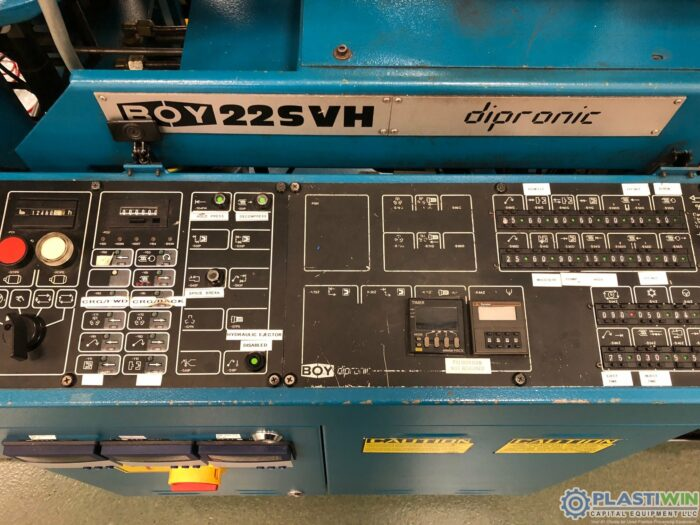 Used 22 Ton Boy 22-SVH Vertical Injection Molding Machine