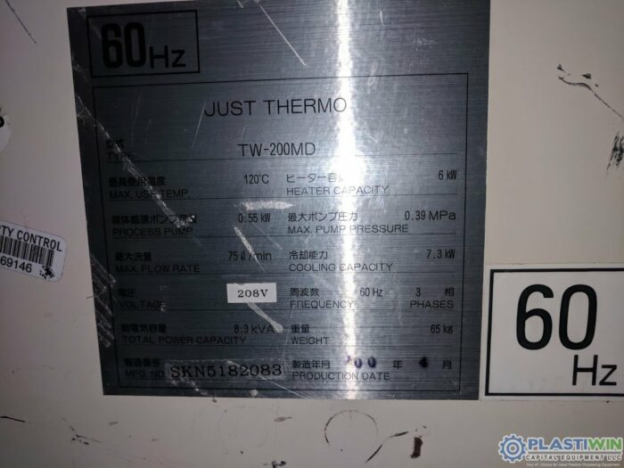 Used .75HP Kawata TW-200MD Temperature Controller