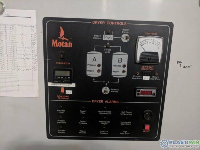 Used 2400 CFM Motan Model MDS1200 Dual Desiccant Drying System