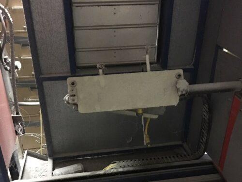 used lab 2 arm rotational molding machine
