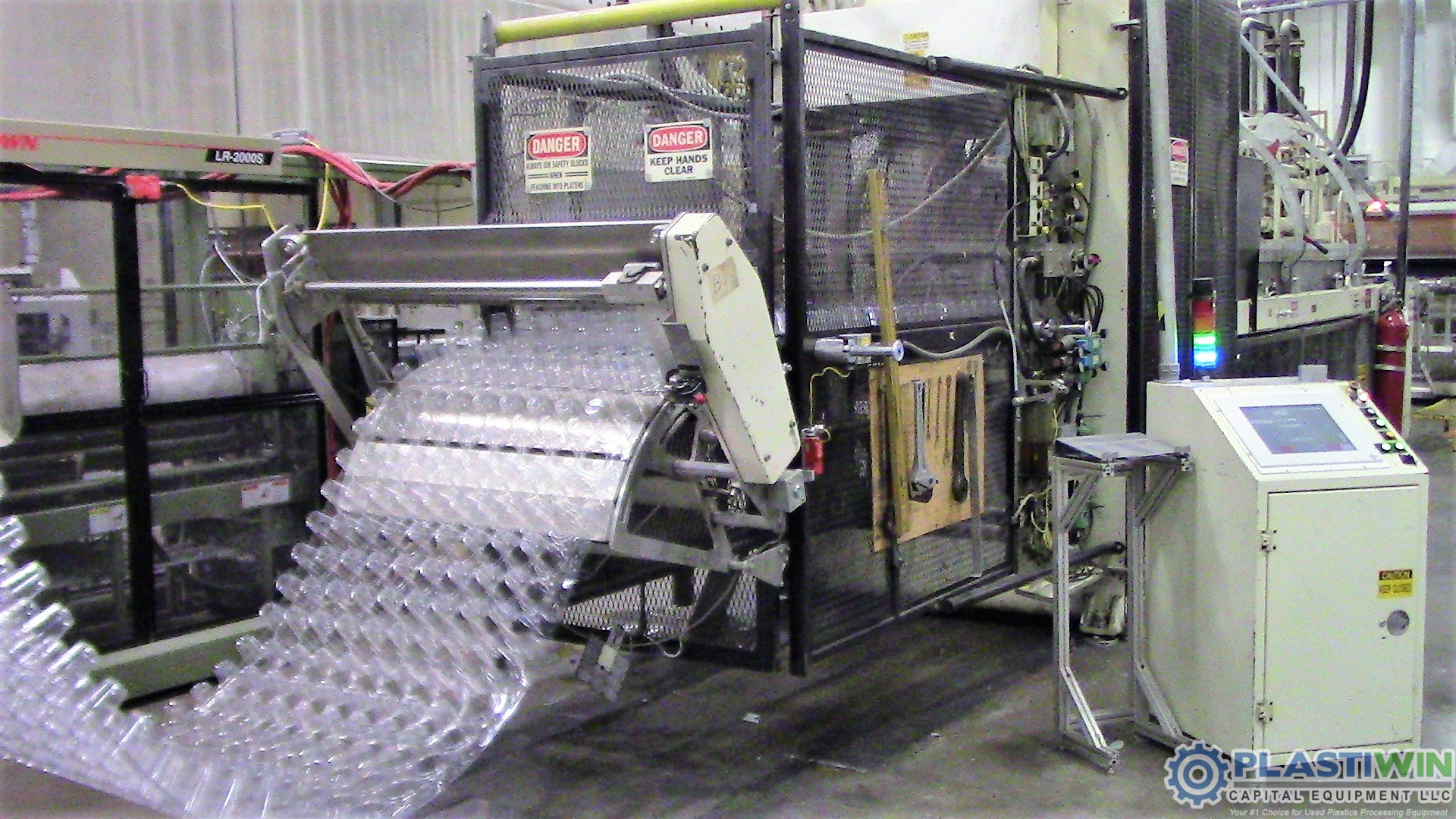 Used Irwin Model MF-LH 36-50-25 Thermoformer and TP-LH 36NT-16 Trim Press