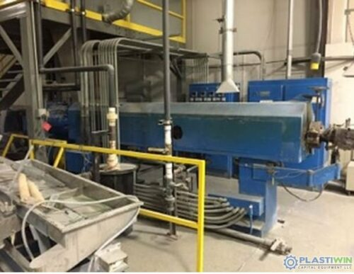 """Used 4.5"""" 250 HP Sterling 34:1 L/D Single Screw Extruder"""