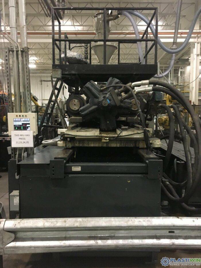 Used 1100 Ton Cincinnati Milacron MM1100-413 Injection Molding Machine 2004 5 used 1100 ton cincinnati milacron
