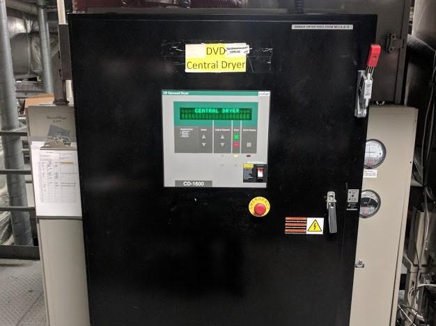 used 1600 cfm conair model cd1600 drying system