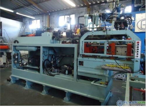 Used Uniloy Model 350-R2 (4) Head Reciprocating Screw Intermittent Extrusion Blow Molding System