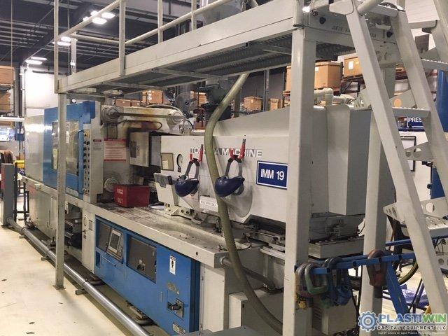 Used 390 Ton Toshiba Model ISF-390VL-27B Injection Molding Machine 1