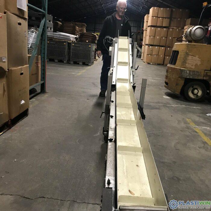 Used HFA Incline Cleated Incline Conveyor