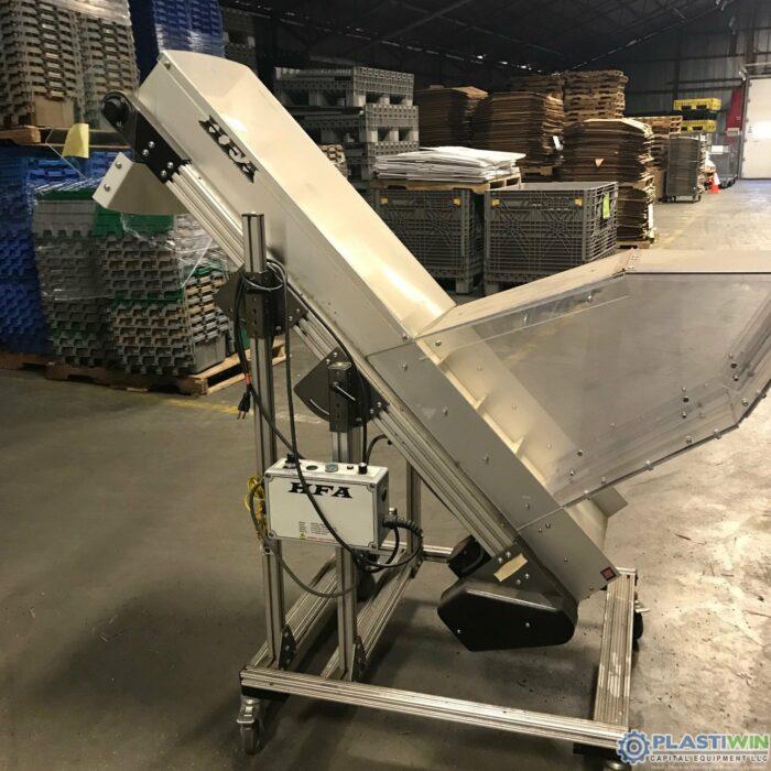 Used HFA Varaible Speed Cleated Incline Conveyor 1 Used HFA Varaible Speed Cleated Incline Conveyor