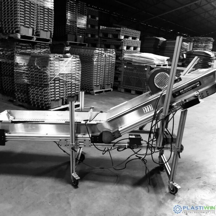 Used MAC Automation Cleated Incline Conveyor