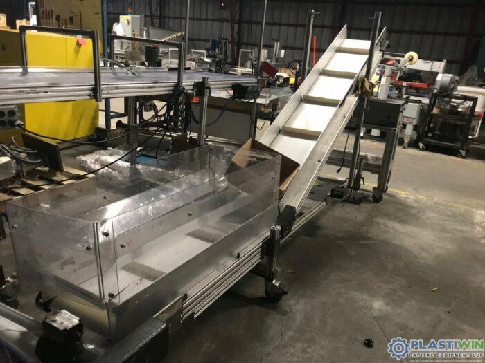 Used Custom Cleated Incline Conveyor
