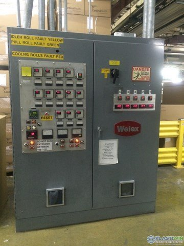 Used 4.5 250 HP Welex 301 LD Single Screw Extruder (1)