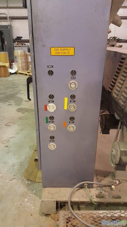 "Used 3.5"" HPM 24:1 L/D HPM Extruder"