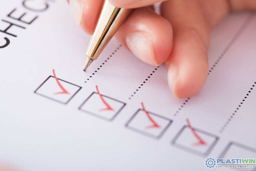 used plastic processing machinery checklist
