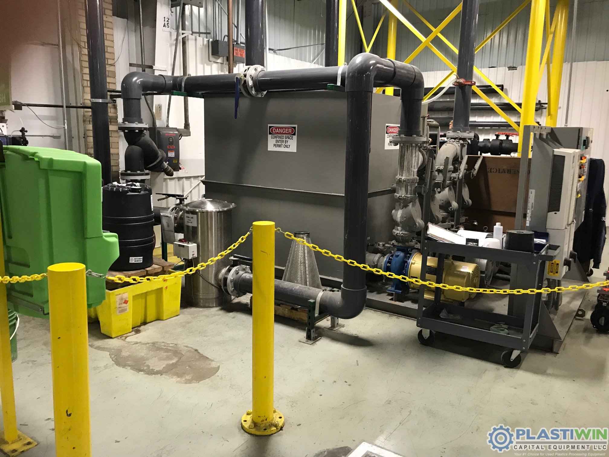 Used Thermal Care Model PTS1600 Chiller with Pump Station & Cooling Tower
