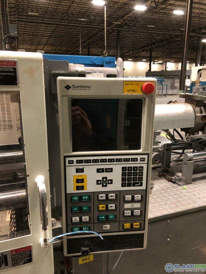 110 Ton Sumitomo SH100C Injection Molding Machine 3 Used 110 Ton Sumitomo SH100C Injection Molding Machine