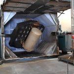 used rei 2 arm shuttle rotational molding machine