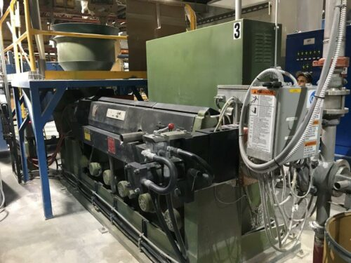 "3.5"" 150 hp davis standard 30:1 l/d single screw extruder"