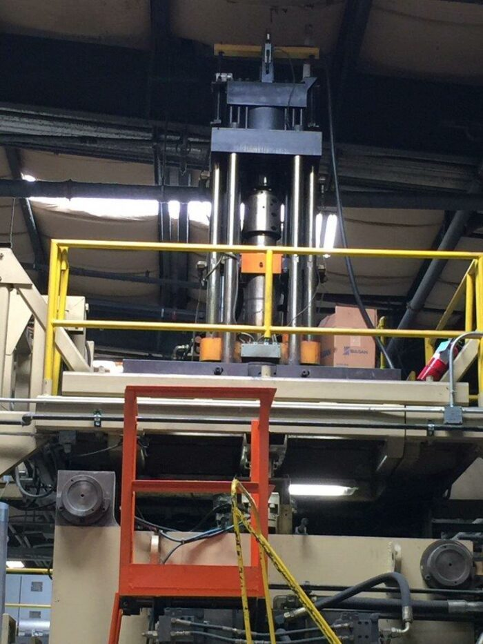 graham 35lb blow molding machine used