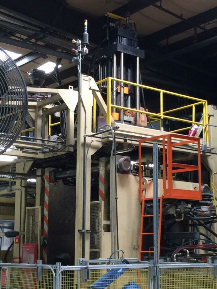 used graham single 35lb blow moulding machine for sale