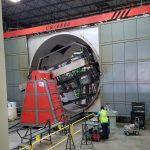 used rising sun cs 6500 shuttle rotational molding machine