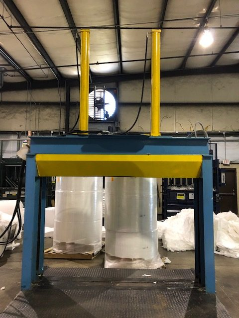 """used 82"""" size reduction guillotine roll splitter for sale"""