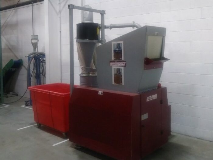 used 20 hp wittmann mc1417 granulator
