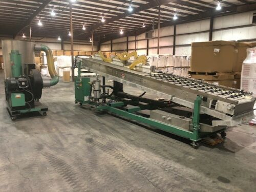 Used BPM Model FC24-20 Flash Off Conveyor with Stainless Steel Belt