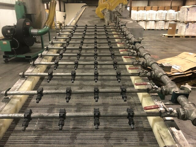 Used BPM Bay Plastics Model FC2420 Wet Belt Conveyor