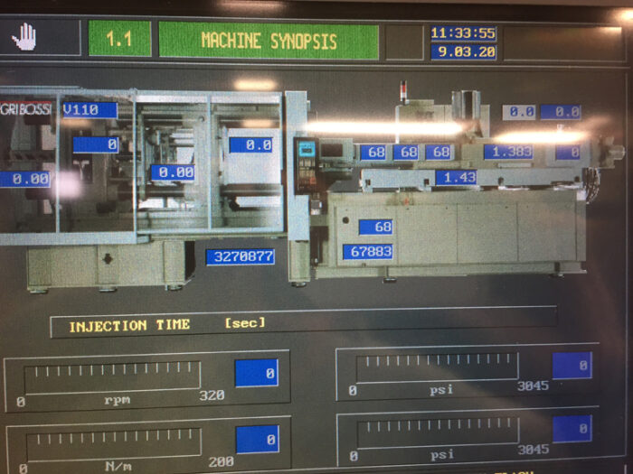 used injection moulding machine negri bossi brand