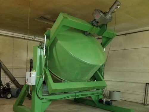 used nbe 400 cu ft single cone mixer