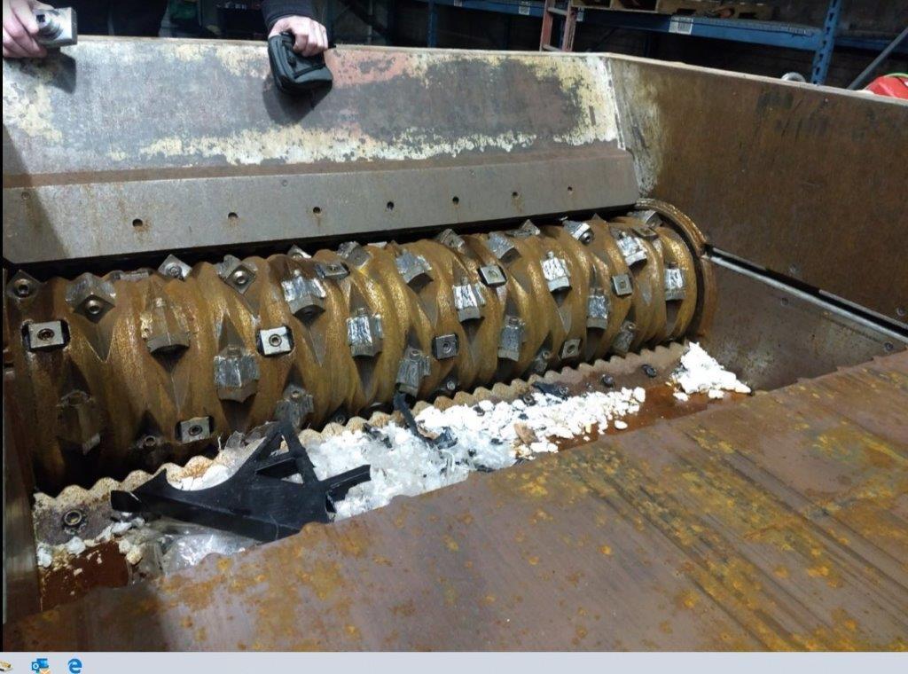 100 hp vecoplan rg52 used plastics shredder