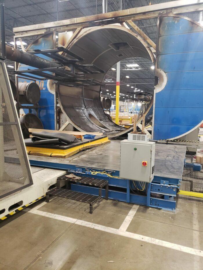 used rotoline dc40 xt rotational molding machine