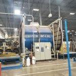 used rotoline dc40 xt shuttle rotational molding machine