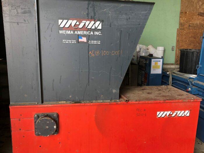 used 30 hp weima wl42 single shaft shredder