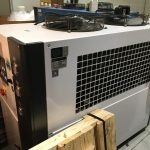 used 10 ton shini sic-24a-r2-p air cooled chiller