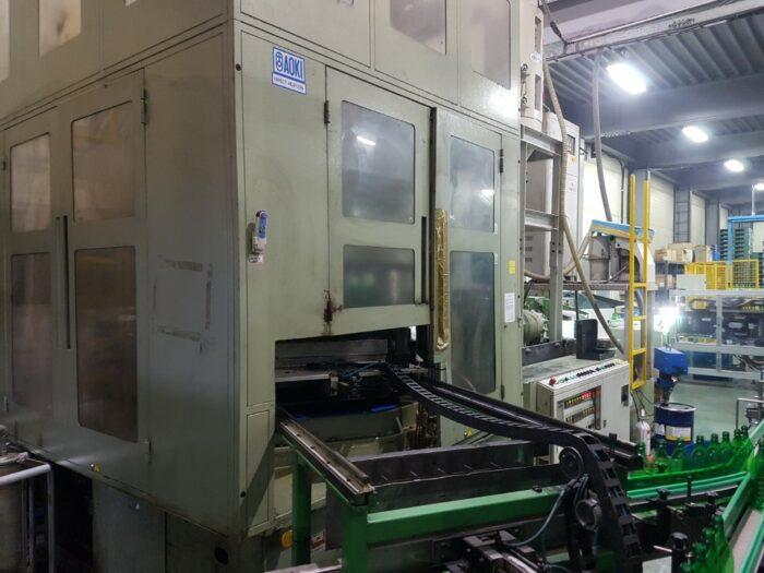 used aoki sbiii-350ll-40 blow molding machine