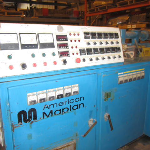 88mm American Maplan Model TS-88 Counter Rotating Twin Screw Extruder 1 88mm American Maplan