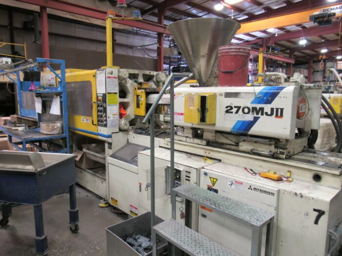 used 270 ton mitsubishi injection molding machine