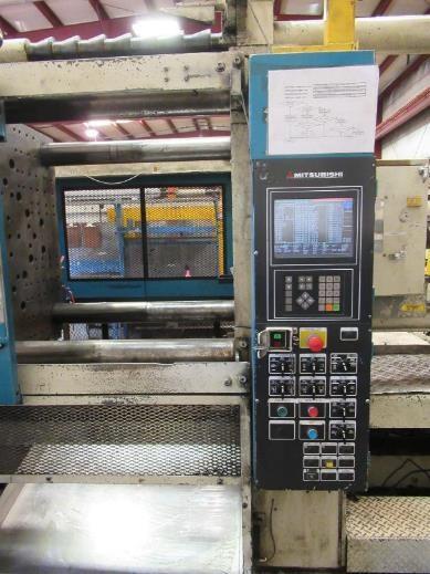 Used 500 Ton Mitsubishi Hydraulic Injection Molding Machine 3 Used 500 Ton Mitsubishi Hydraulic