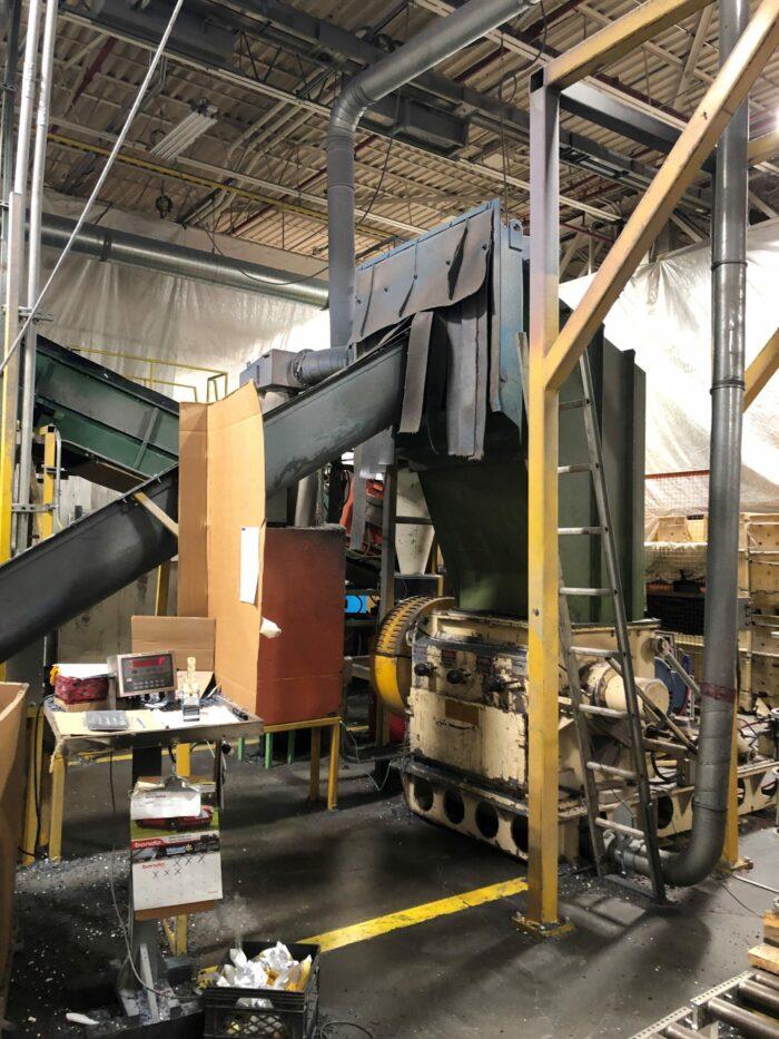 Used 125 HP ReTech Vecoplan RG52/120 Single Shaft Shredder Line 3 Used 125 HP ReTech Vecoplan
