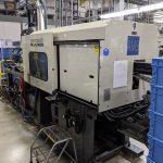 used 110 ton cincinnati vt110-5 injection molding machine