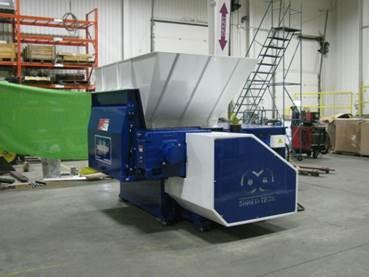 used 60 hp shred-tech sts-4 single shaft shredder