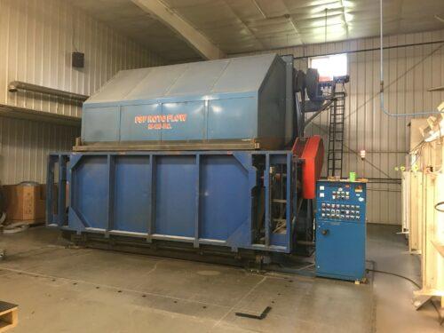 used fsp rotoflow m-120 p.c. clam shell rotational molding machine