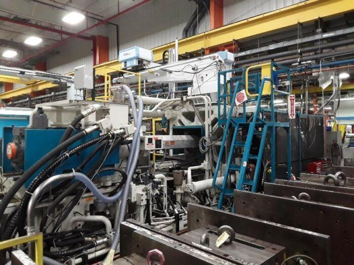 Used 1200 Ton Mitsubishi 1200MMJ-160 Injection Molding Machine 2 Used 1200 Ton Mitsubishi